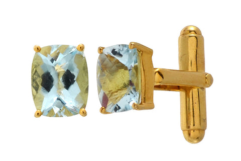 Cufflinks - Cufflinks For Men, 925 Sterling Silver With Topaz JL AGC 1005