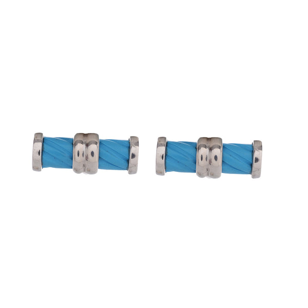 Cufflinks - Cufflinks For Men With Carved Turquoise In 925 Sterling Silver JL AGC 10020