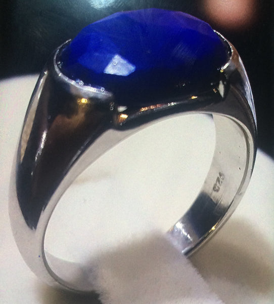 Customised Sapphire Ring In Platinum