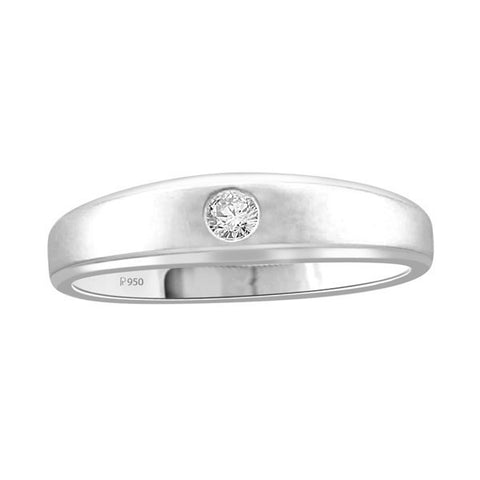 Diamond Solitaire Ring for Men in Platinum SJ PTO 297 in India