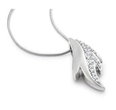 Dew Drops Platinum Pendant with Diamonds SJ PTO E 122 in India