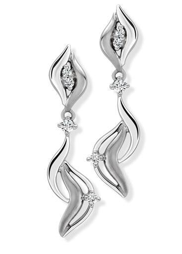 Elegant Dangling Platinum Earrings with Diamonds SJ PTO E 135 in India