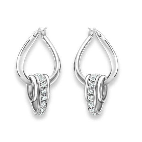 Platinum Earrings Bali Style SJ PTO E 117 - Suranas Jewelove