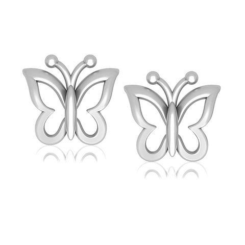 Earrings - Platinum Earrings For Kids Butterfly Design JL PT E 163
