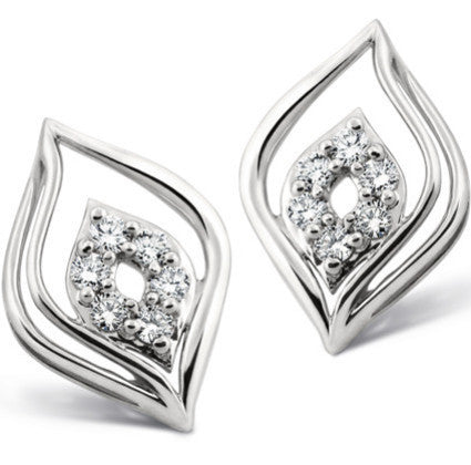 Platinum Pendant Earrings set designed as Petals SJ PTO E 107 - Suranas Jewelove  - 2