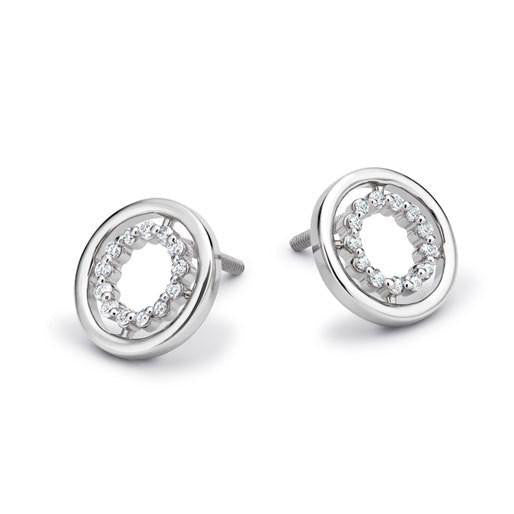 Platinum Earrings with Diamond Ring SJ PTO E 126 - Suranas Jewelove
