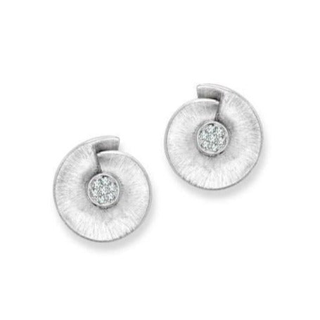 Platinum Earrings with Diamonds SJ PTO E 120 - Suranas Jewelove