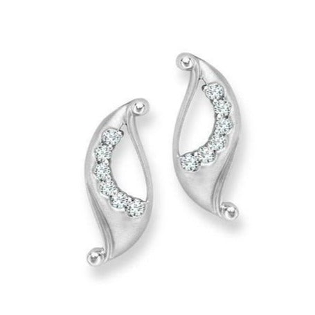 Platinum Earrings with Diamonds SJ PTO E 121 - Suranas Jewelove