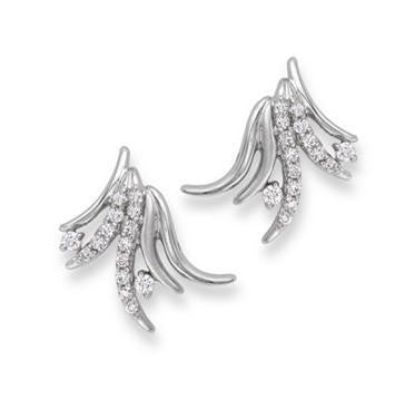 Platinum Earrings with Diamonds SJ PTO E 128 - Suranas Jewelove
