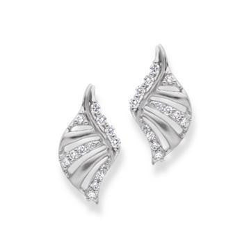 Platinum Earrings with Diamonds SJ PTO E 129 - Suranas Jewelove