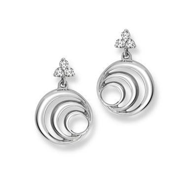 Platinum Earrings with Diamonds SJ PTO E 132 - Suranas Jewelove