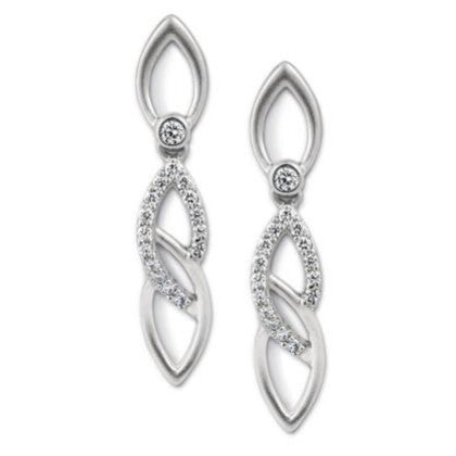 Platinum Earrings with Infinity Loops SJ PTO E 101 - Suranas Jewelove