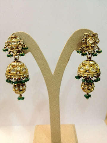 Royal Jhumki Earrings Pair by Suranas Jewelove - Suranas Jewelove