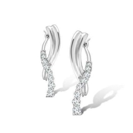 Simple & Elegant Journey Platinum Earrings SJ PTO E 118 - Suranas Jewelove