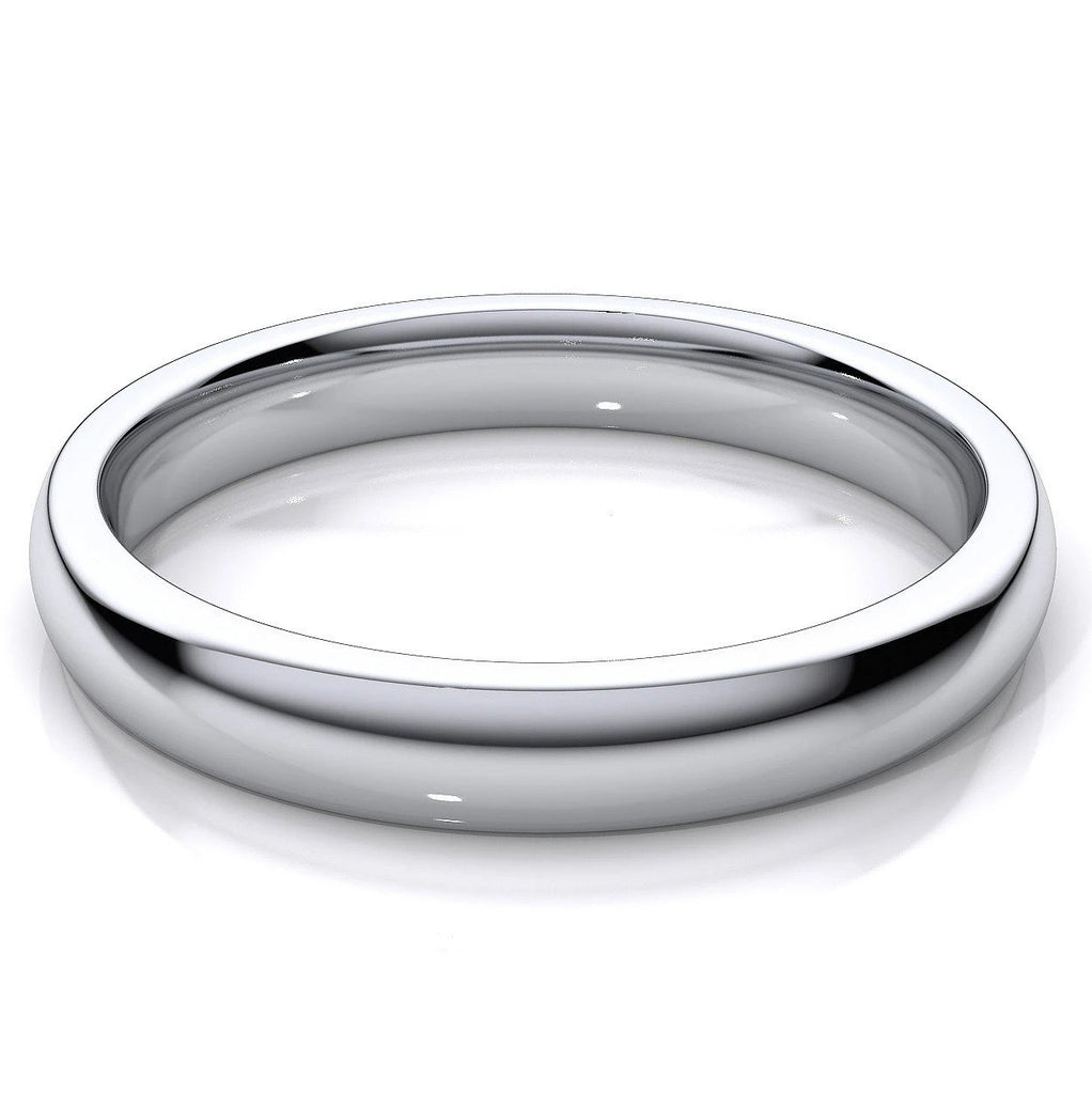 3mm Wide Platinum Wedding Band SJ PTO 223 in India
