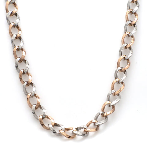 Platinum & Rose Gold Chain for Men JL PT CH 902