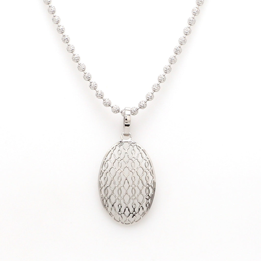 Designer Filigree Platinum Pendant for Women JL PT P 208