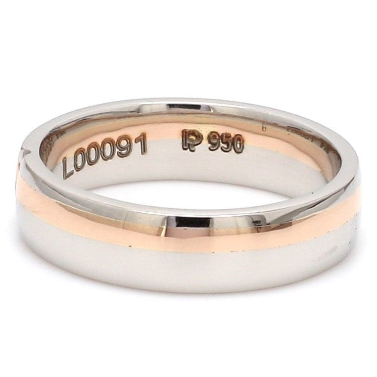 Customized Fingerprint Engraved Platinum Rings with Diamonds for Couples JL PT 906