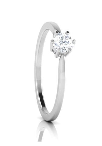 Customised 25 Pointer Basket 6 Prong Solitaire Ring made in Platinum SKU 0012-A
