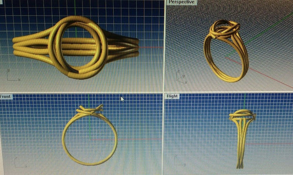 Customised Gold Ring with Diamond Rough