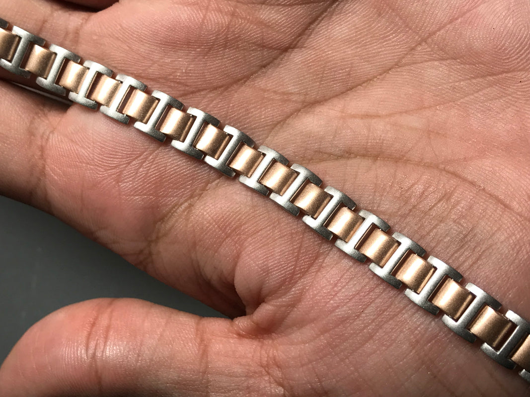 Platinum and Rose Gold Bracelet for Men JL PTB 635