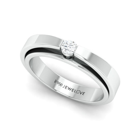 Super Sale - Ring Size 11, JL PT 409 Floating Diamond Platinum Ring for Women