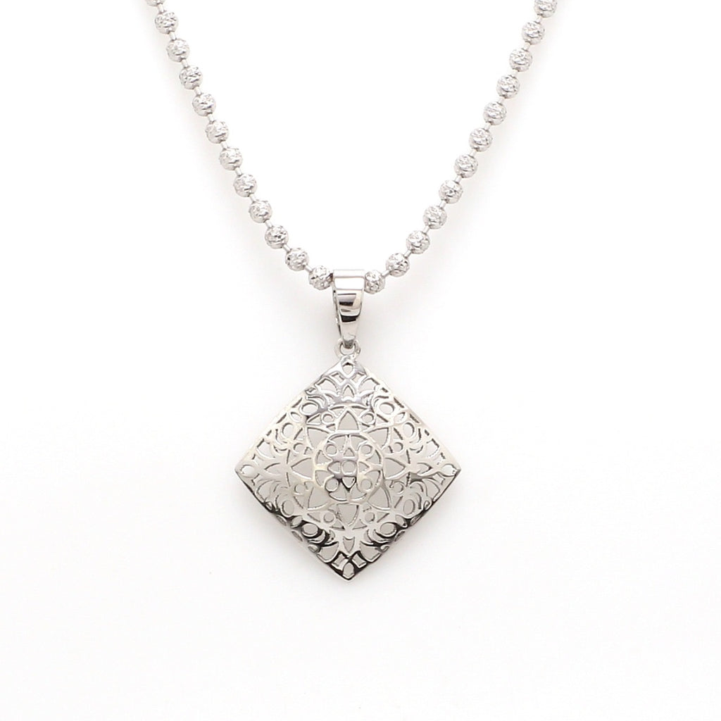 Designer Filigree Platinum Pendant for Women JL PT P 201