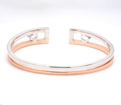 Platinum & Rose Gold Open Kada for Men JL PTB 625-Rose
