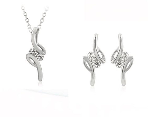 Platinum with Diamond Pendant Set with Chain