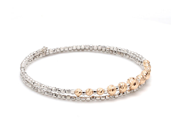 Dazzling Shiny Flexible Japanese Platinum & Rose Gold Bracelet for Women JL PTB 719
