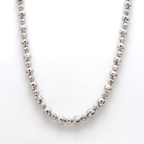 Platinum Necklace with Diamond Cut Balls JL PT 763