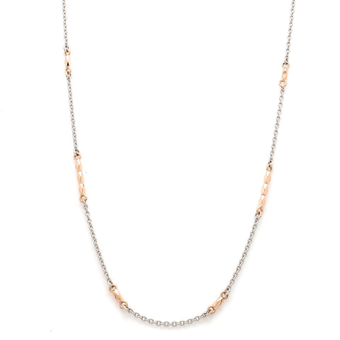 Lightweight Platinum and Rose Gold Chain for Women JL PT CH 790