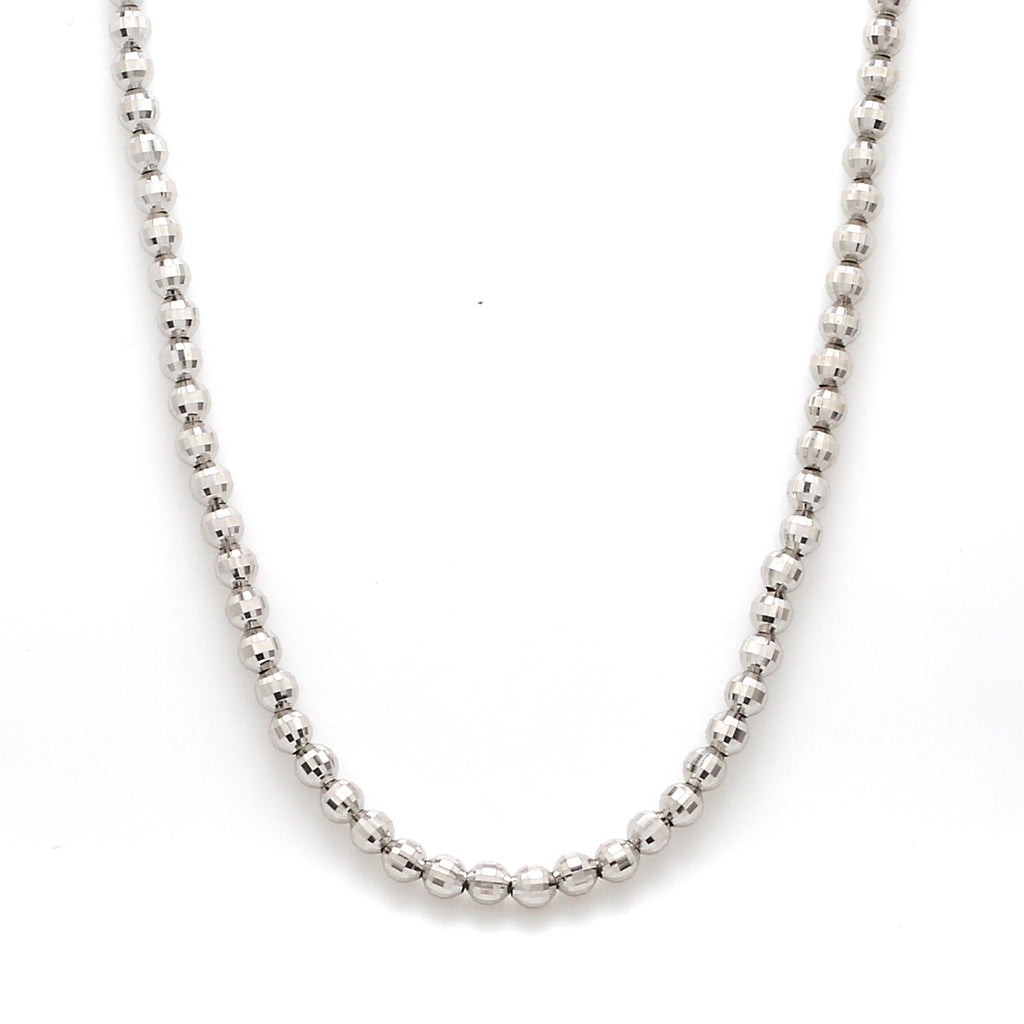 4mm Japanese Platinum Chain with Diamond Cut Balls JL PT CH 744