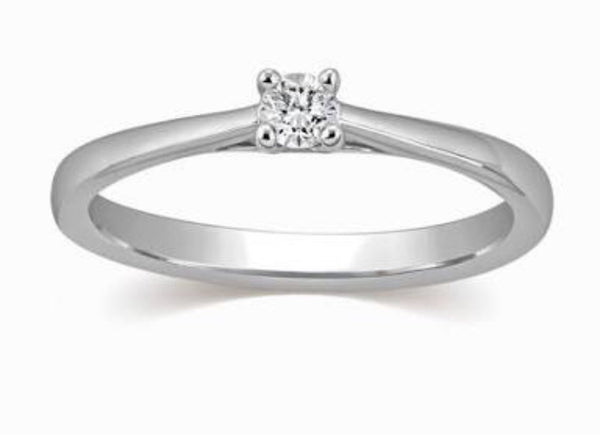 15 pointer single diamond ring
