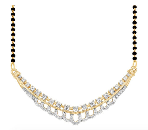 Gold & Diamond Mangalsutra without Chain