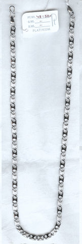 Mens Platinum Chains - Heavy Platinum Chain With Hexagonal Links For Men JL PT 718