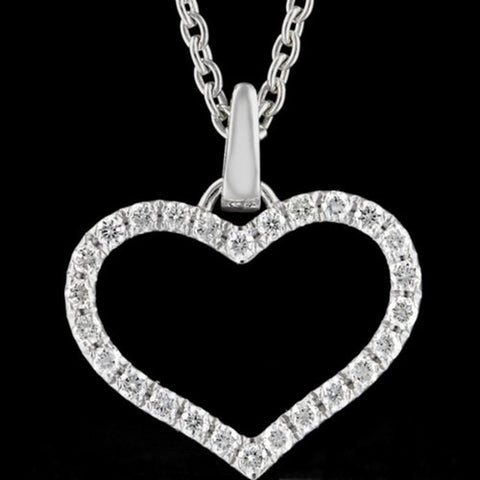 Diamond Heart Pendant SKU 007 in India