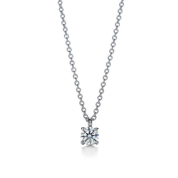 Diamond Solitaire Pendant Crafted in Platinum SJ PTO 901 in India