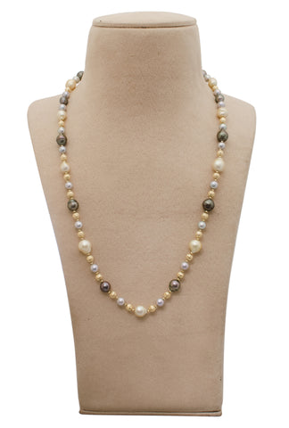 Necklaces & Pendants - Japanese Gold & Pearl Necklace With Earrings JL AU 701