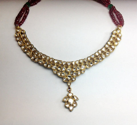 Price Point Diamond Polki Necklace Set by Suranas Jewelove - Suranas Jewelove