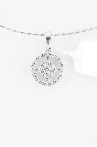 Solitaire look Pressure-set Diamond Pendant by  Jewelove - Suranas Jewelove