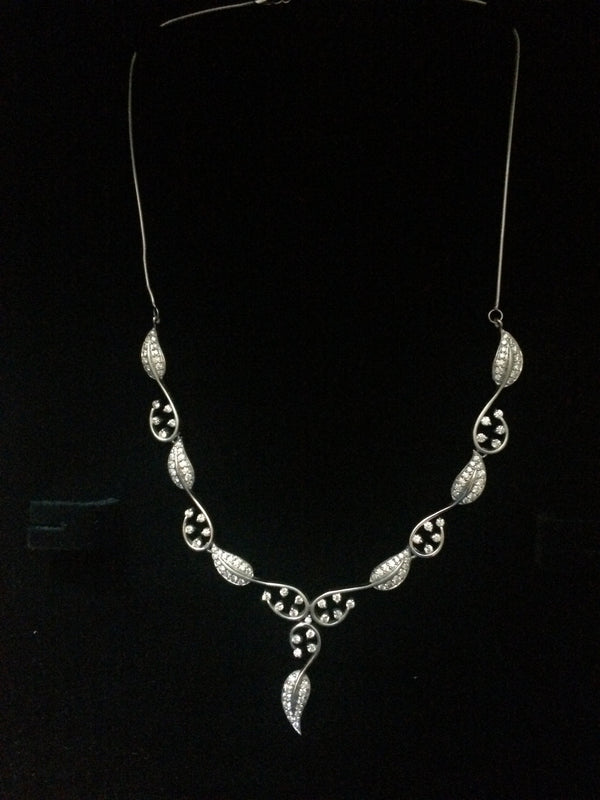 Platinum Necklaces in India - Super Sale - Platinum Necklace With Diamonds JL PT N32