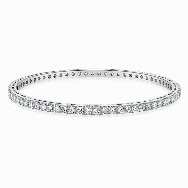 Platinum Solitaire Bangles - 7 Pointer Single Line Diamond Bangle In Platinum JL PTB 616