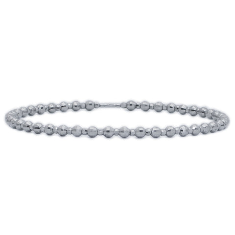 Platinum Bangles in India - Platinum Bangle With Diamond Cut Balls JL PTB 618