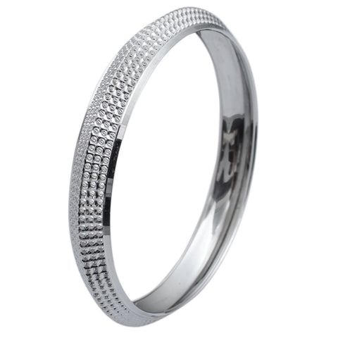 Platinum Bangles in India - Uni-Sex Broad Platinum Kada JL PTB 619
