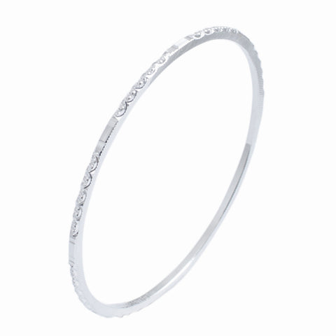 Platinum Bangles in India - Thin Platinum Bangles By Jewelove JL PTB 615