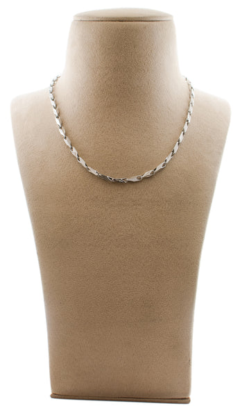Platinum Chains in India - Heavy Platinum Chain For Men JL PT 722 Made In Japan Neck View