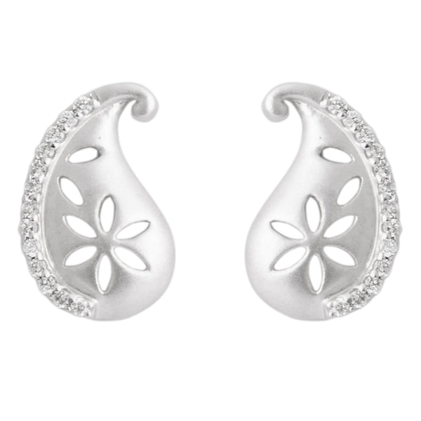 Platinum Diamond Earrings in India - Super Sale - Flowers Dotted With Dew Of Diamonds SJ PTO E 155