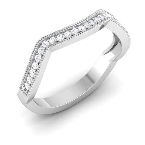 Platinum Diamond Rings - Designer Half Eternity Platinum Ring With Diamonds JL PT 437