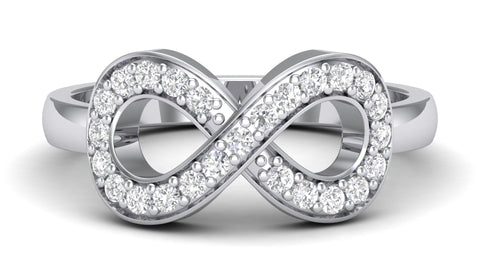 Platinum Diamond Rings - Infinity Of Love Platinum Diamond Ring For Women JL PT 458